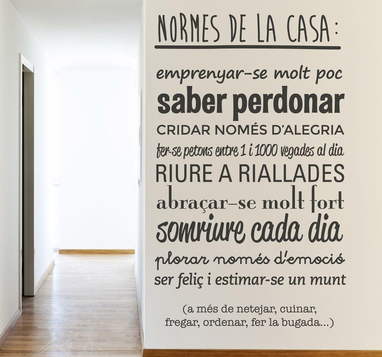 Vinilo Catala Normes Casa Vinilos Frases Frases En Catalan