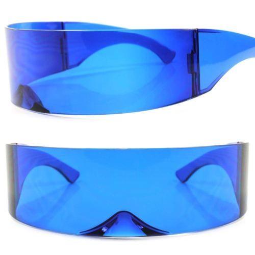b70c02ca87f6 Futuristic-Party-Novelty-Costume-Sci-Fi-Anime-Alien-Cosplay-Wrap-Blue- Sunglasses