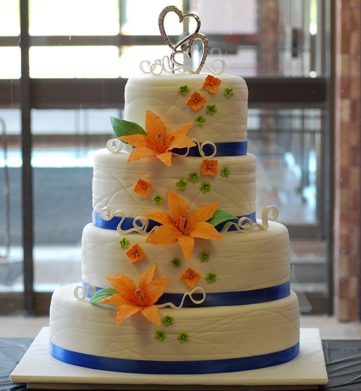 Orange And Blue Weddings