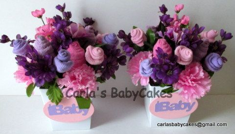 Floral baby bouquet baby sock flower arrangement baby floral flower baby sock negle Choice Image