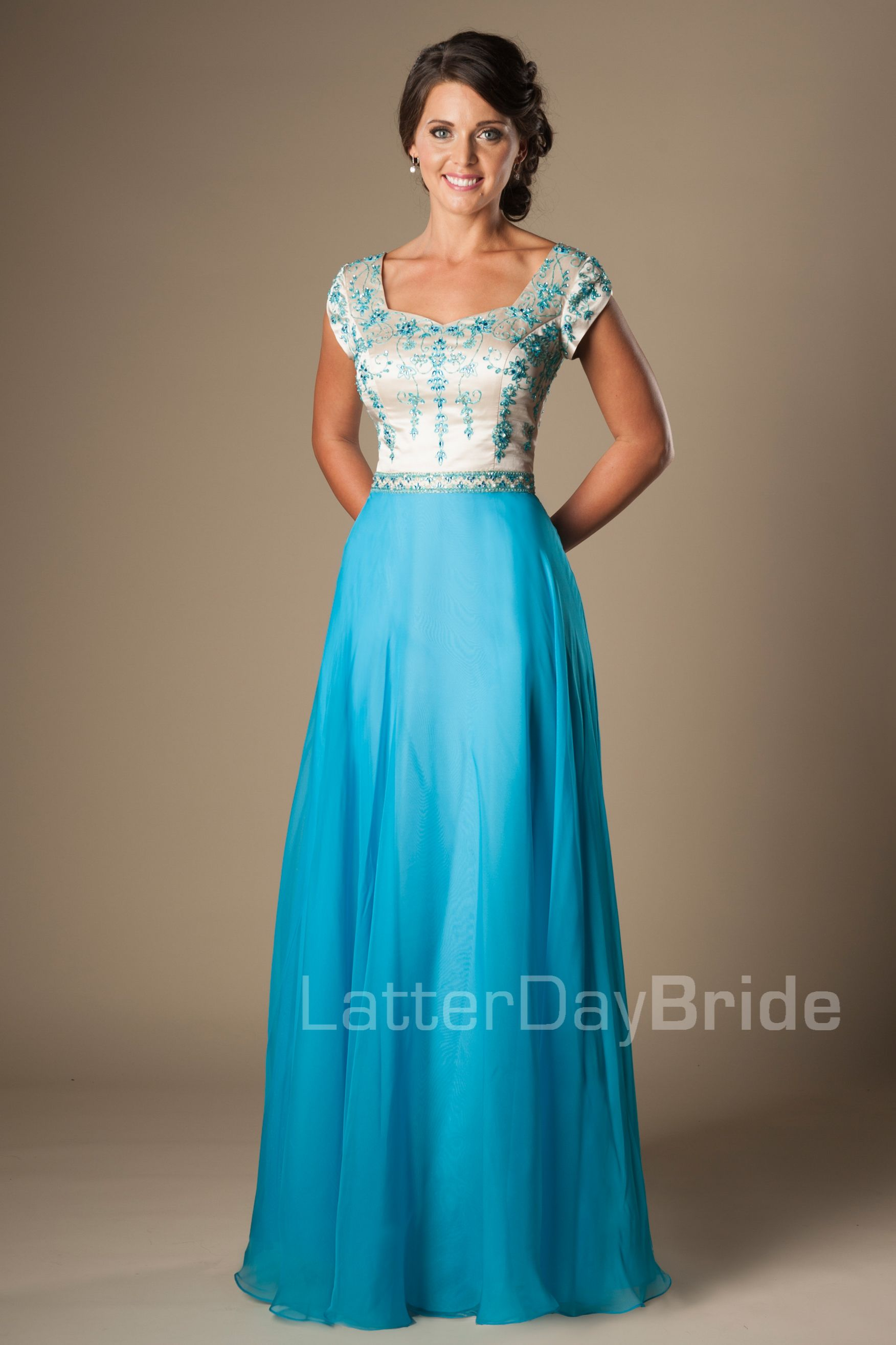 modest-prom-dress-dabney-front.jpg | Prom Excitement!!! | Pinterest ...