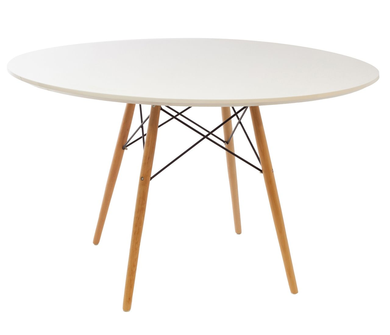 Replica Eames Dsw Dining Table 120cm Black Or White Top Dining
