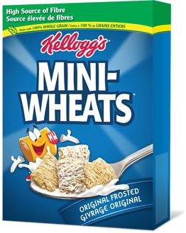 Frosted Mini-Wheats (Frosted Wheats and Mini Max [smaller version] in the United Kingdom, Mini-Wheats in Canada, and Toppas in certain European countries; also referred as