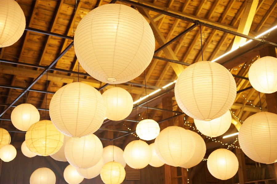Decorative Ball Lights Magnificent Weddingdecorativewhitecolorcottonballbalilanternlight Decorating Design