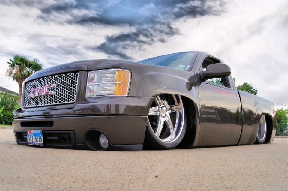 2007 Gmc Sierra Bagged And Body Dropped Dropped Trucks