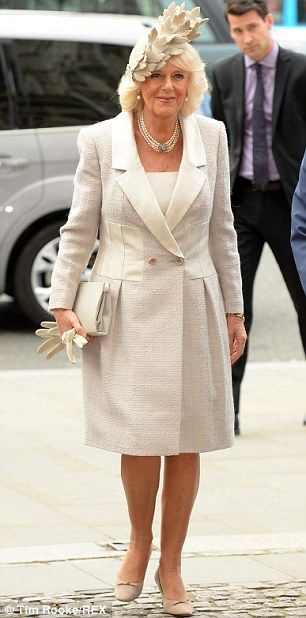 3/10/2014: Camilla, Duchess of Cornwall arrives for the Observance of Commonwealth Day service (London)