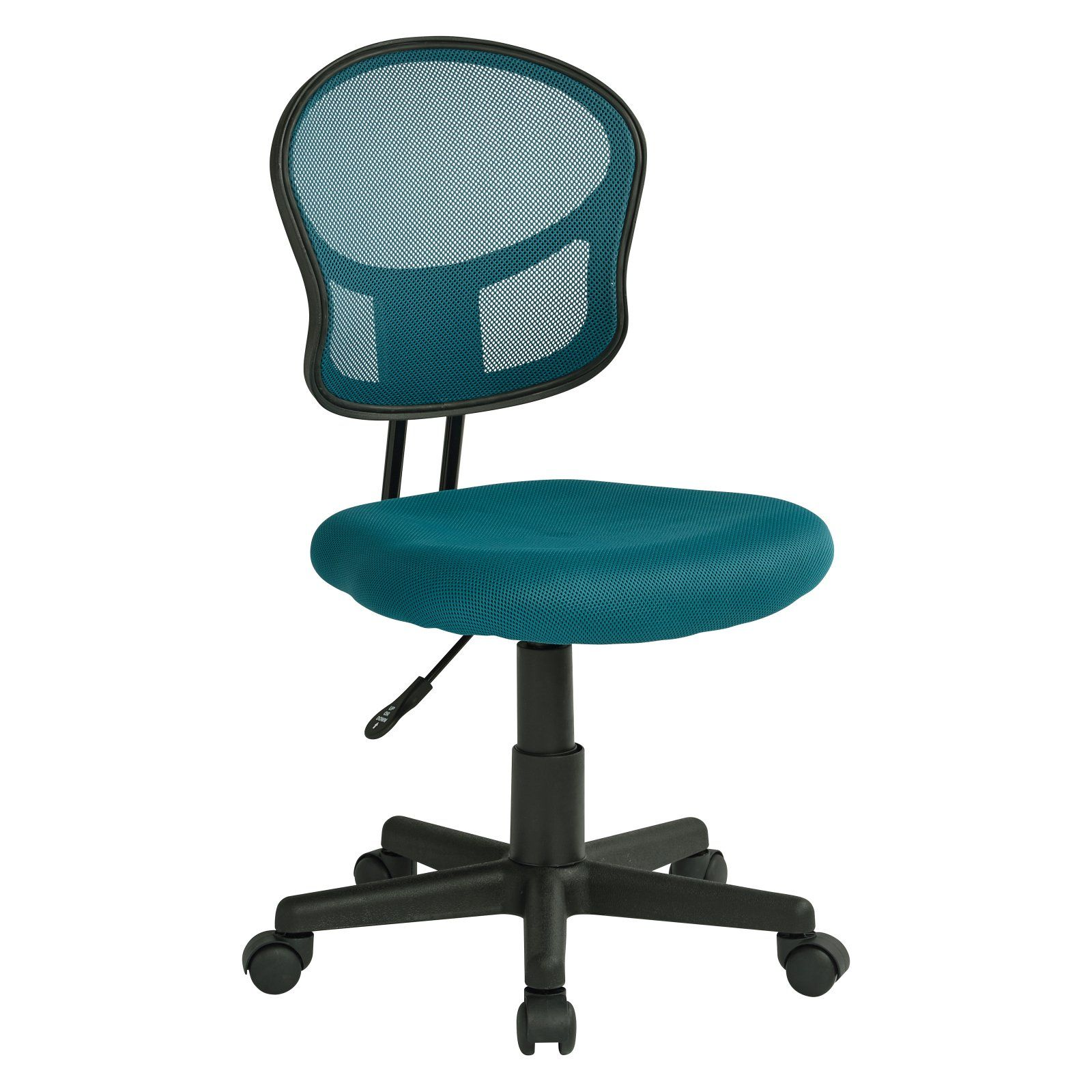 Magnificent Osp Designs Armless Mesh Task Chair Blue Products In 2019 Uwap Interior Chair Design Uwaporg