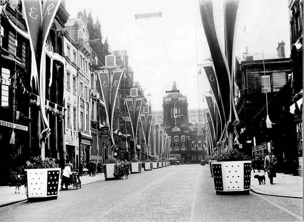 Queen Elizabeth II Coronation celebrations in Liverpool, via Liverpool Picturebook