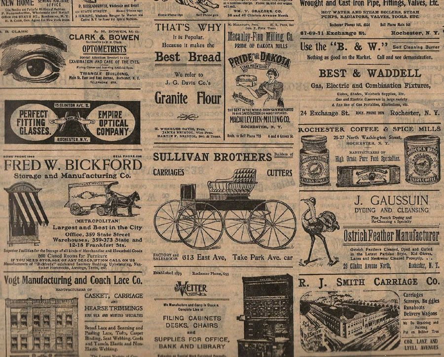 Vintage Look Rochester Ny Newsprint Ads Tissue Paper 507 10 Lrg Sheets Ebay Old Newspaper Vintage Newspaper Newspaper Wrapping