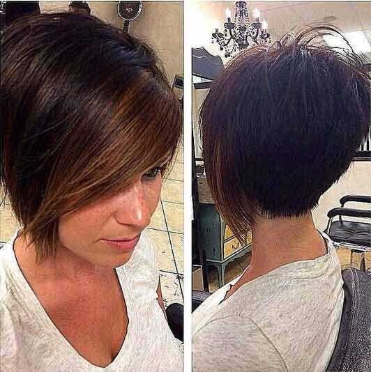 Latest best summer short hairstyles 2017 in pakistan with side part front hai
