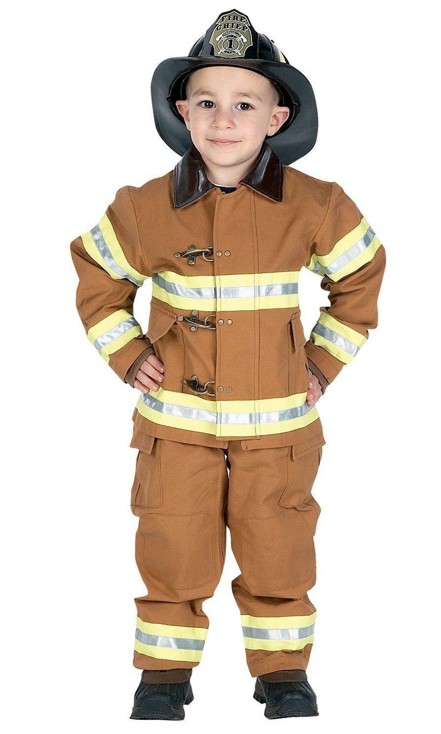 Jr FIRE FIGHTER Fireman suit kids boys halloween costume