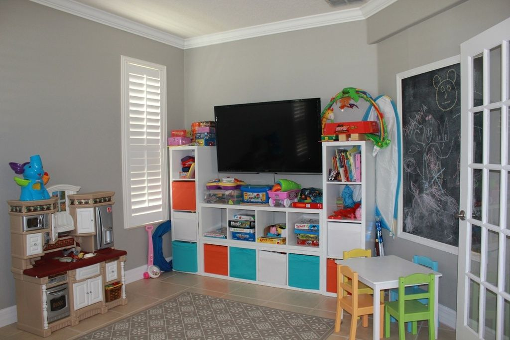 Contemporary Playroom With Better Homes And Gardens 4 Cube Organizer Storage Bookcase Bookshelf