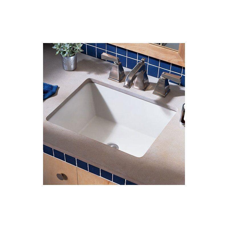 Boulevard Ceramic Rectangular Undermount Bathroom Sink With