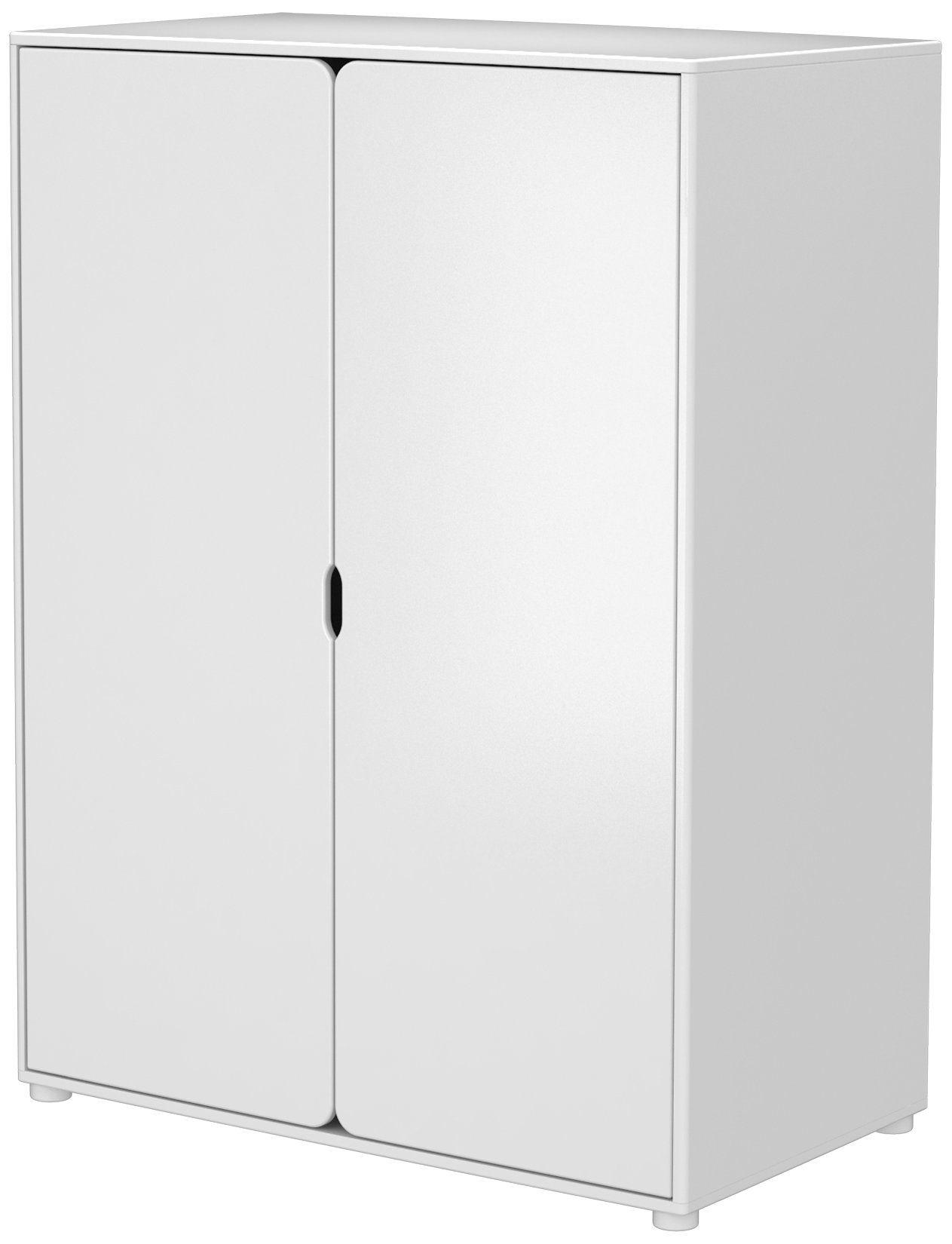 Schrank Flexa Cabby 2 Turig 4 Tablare 1 Kleiderstange Mdf Weiss Lackiert Tall Cabinet Storage Storage Cabinet Tall Storage