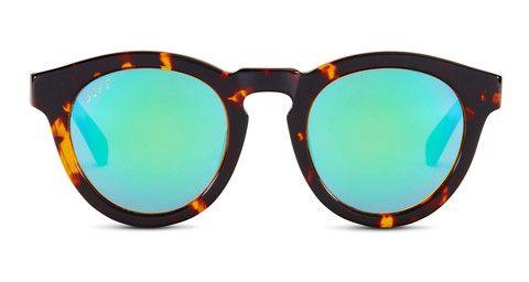 14ce99400b DIME II - TORTOISE FRAME - BLUE MIRROR LENS - DIFF Eyewear - 1 ...