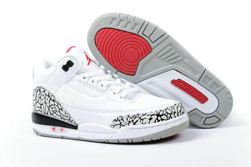 air jordan 3 white cement boys