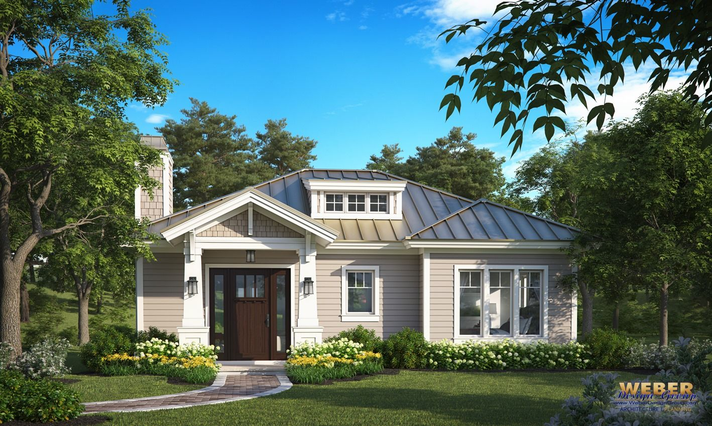 Small House Plan: 1 Story Cottage Style Home Floor Plan | Small ...