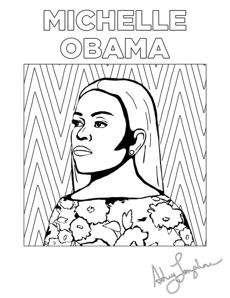 Powerful Black Women Coloring Pages Ashleylongshoreart Coloring Pages Abc Coloring Pages Abc Coloring