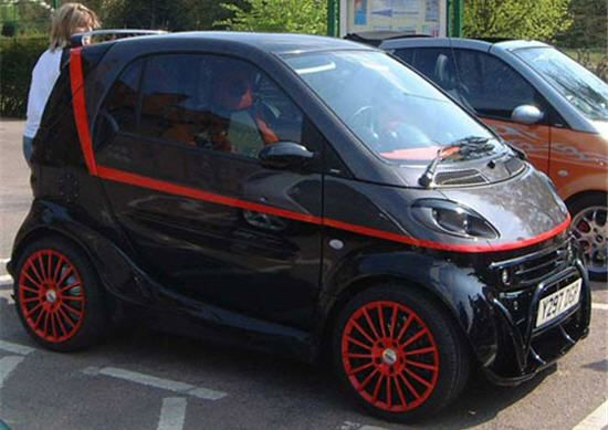Check Out This Cool Little A Team Van Smart Car Body Kits Vans