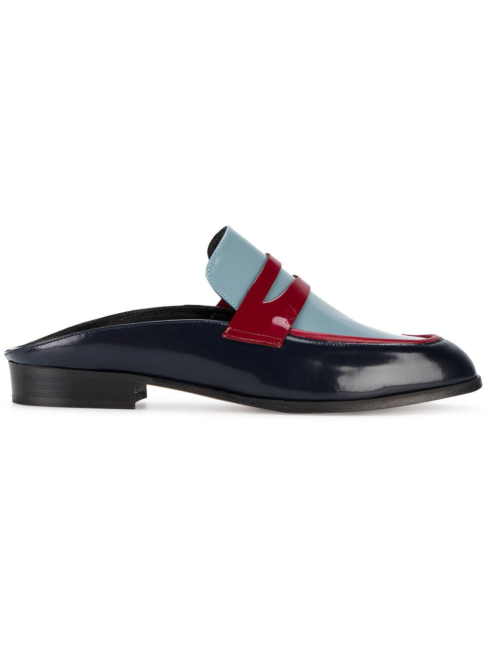 Allan Two-Tone Leather Mules Robert Clergerie KIV3omZgQ
