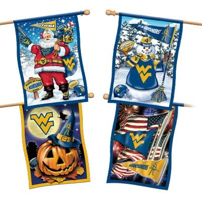 west virginia mountaineers flag collection willabee ward pinterest