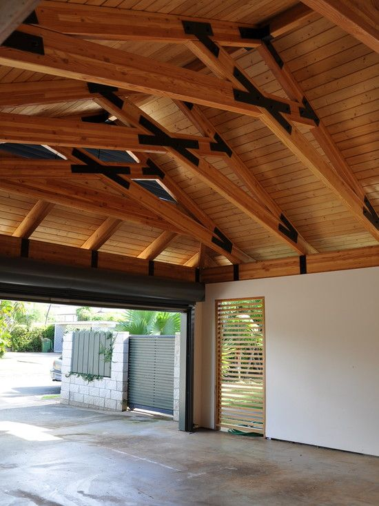 concrete floor wood ceiling - Google Search | Garage ...