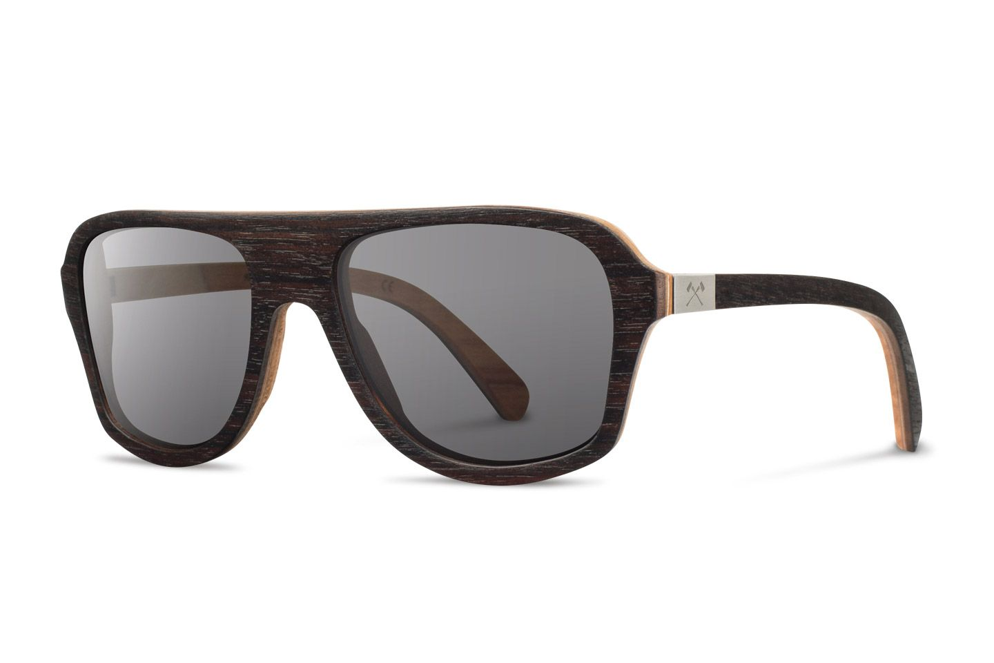 Shwood | Wooden Sunglasses | Ashland Select | Ebony & Quilted Maple | Grey Polarized