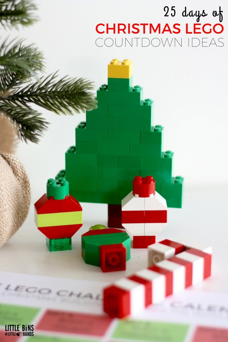 Lego christmas building ideas calendar countdown for kids lego