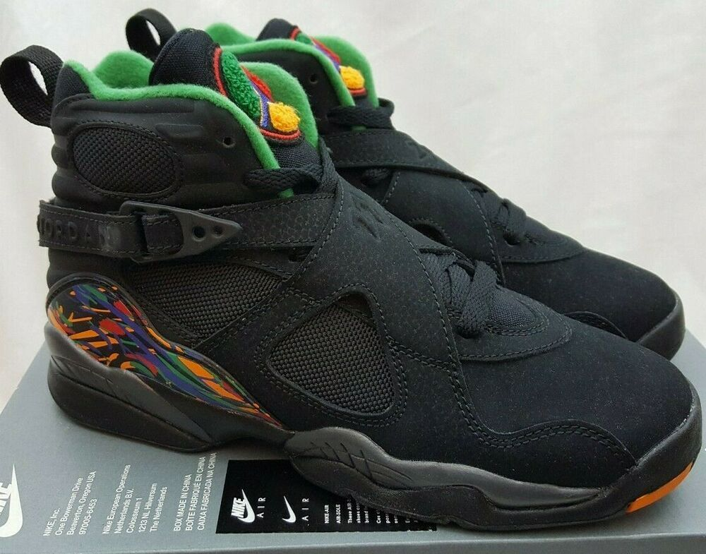 classic eb998 5e863 Nike Air Jordan 8 Retro GS Tinker Air Raid Black Shoe 305368 ...
