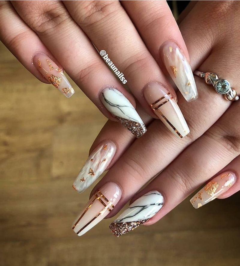 62 Best Acrylic Coffin Nails Ideas In 2019 Nail Art Designs Marble Nail Art Coffin Nails Designs
