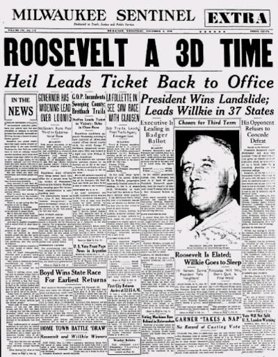 Image result for fdr going for third term in 1940