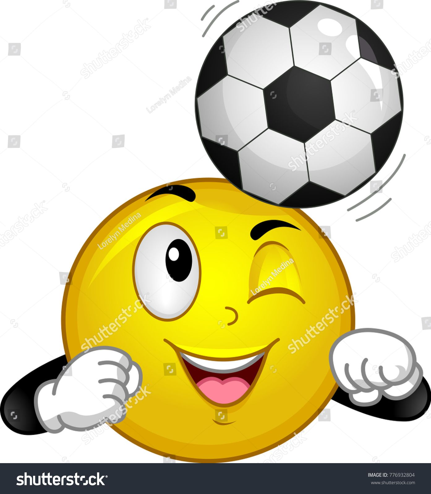 Illustration Of A Smiley Mascot Bumping Soccer Ball On Its Head Ad Sponsored Mascot Smiley Illustration Bumping Smiley Funny Emoji Smiley Quotes
