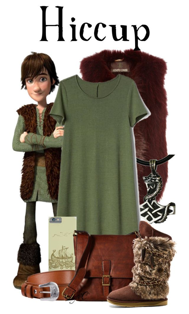 """""""Hiccup - Dreamworks How to Train Your Dragon"""" by rubytyra ❤ liked on Polyvore featuring Roberto Cavalli, Gap, John Lewis, Frye and Australia Luxe Collective"""