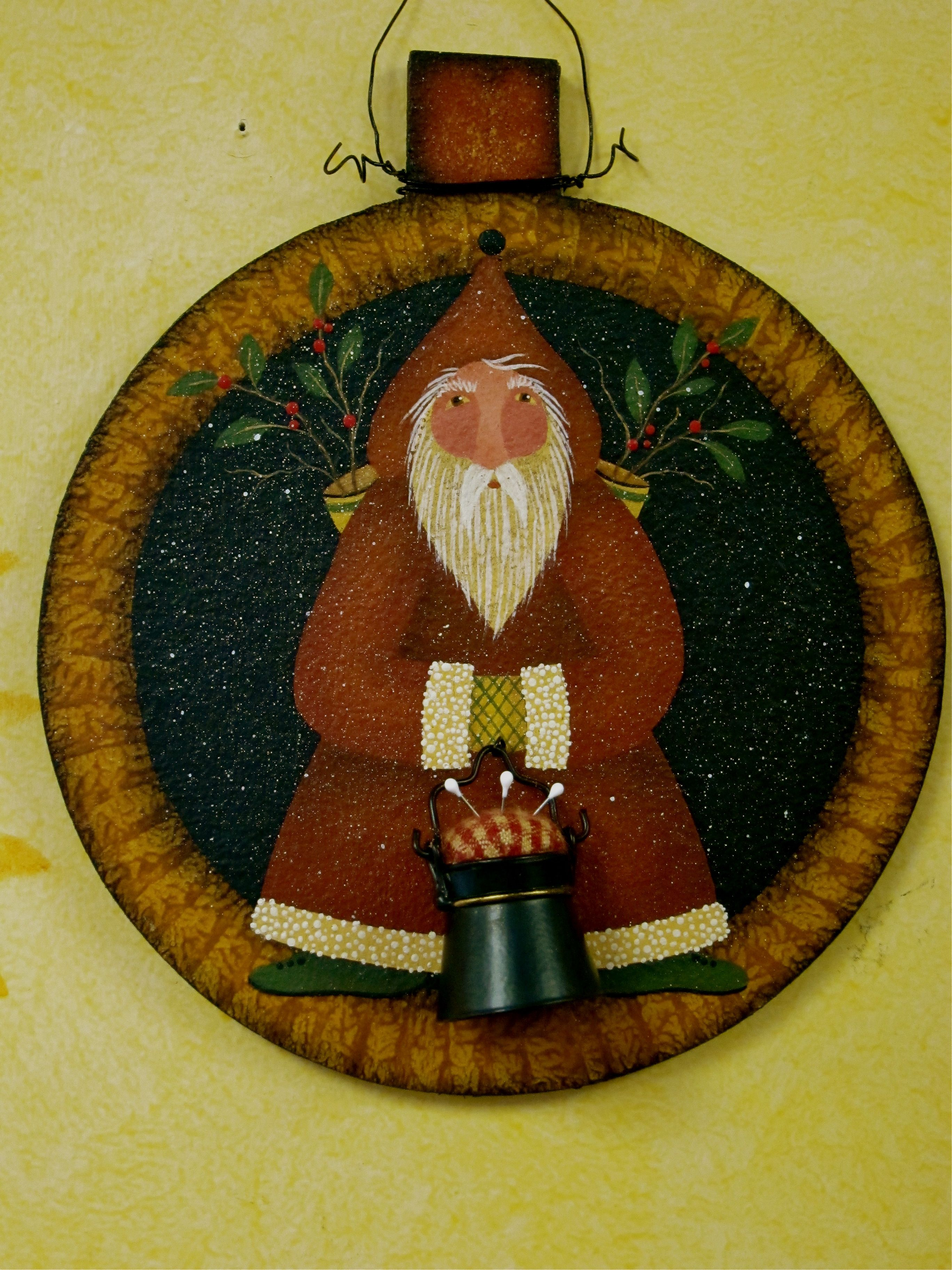 Homemade Christmas Gifts Sewing Circle Santa Ornament Pattern Is Available