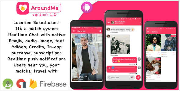 AroundMe Firebase - A powerful dating social network using