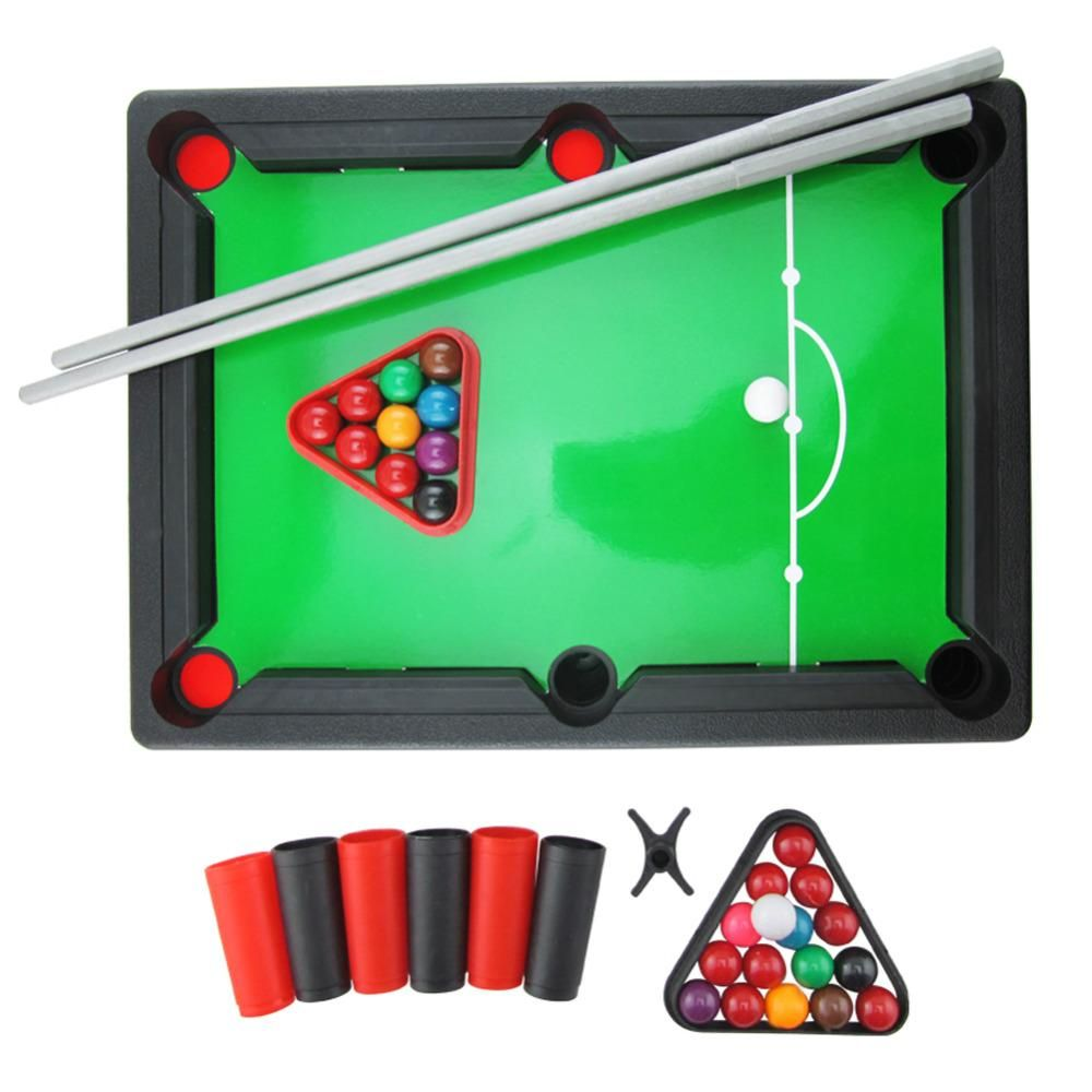 Mini Pool Table Toy Snooker Table Game Toy For Adults Kids Table Top With  Accessories Board