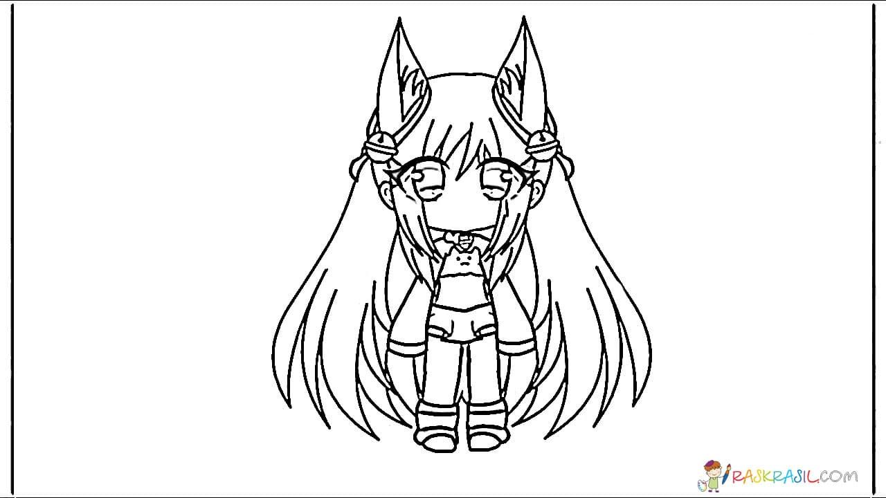 Gacha Life Coloring Pages Unique Collection Print For Free Coloring Pages Funny Costumes Print