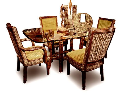 695 Capris Rattan Ranch Dining Room Set  Capris Furniture Dining Fair Wicker Dining Room Sets 2018