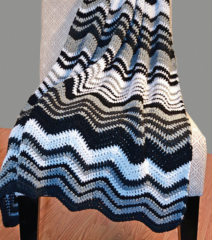 Free pattern crochet a classic chevron afghan chevron afghan classic chevron afghan free crochet chevron afghan pattern bankloansurffo Images