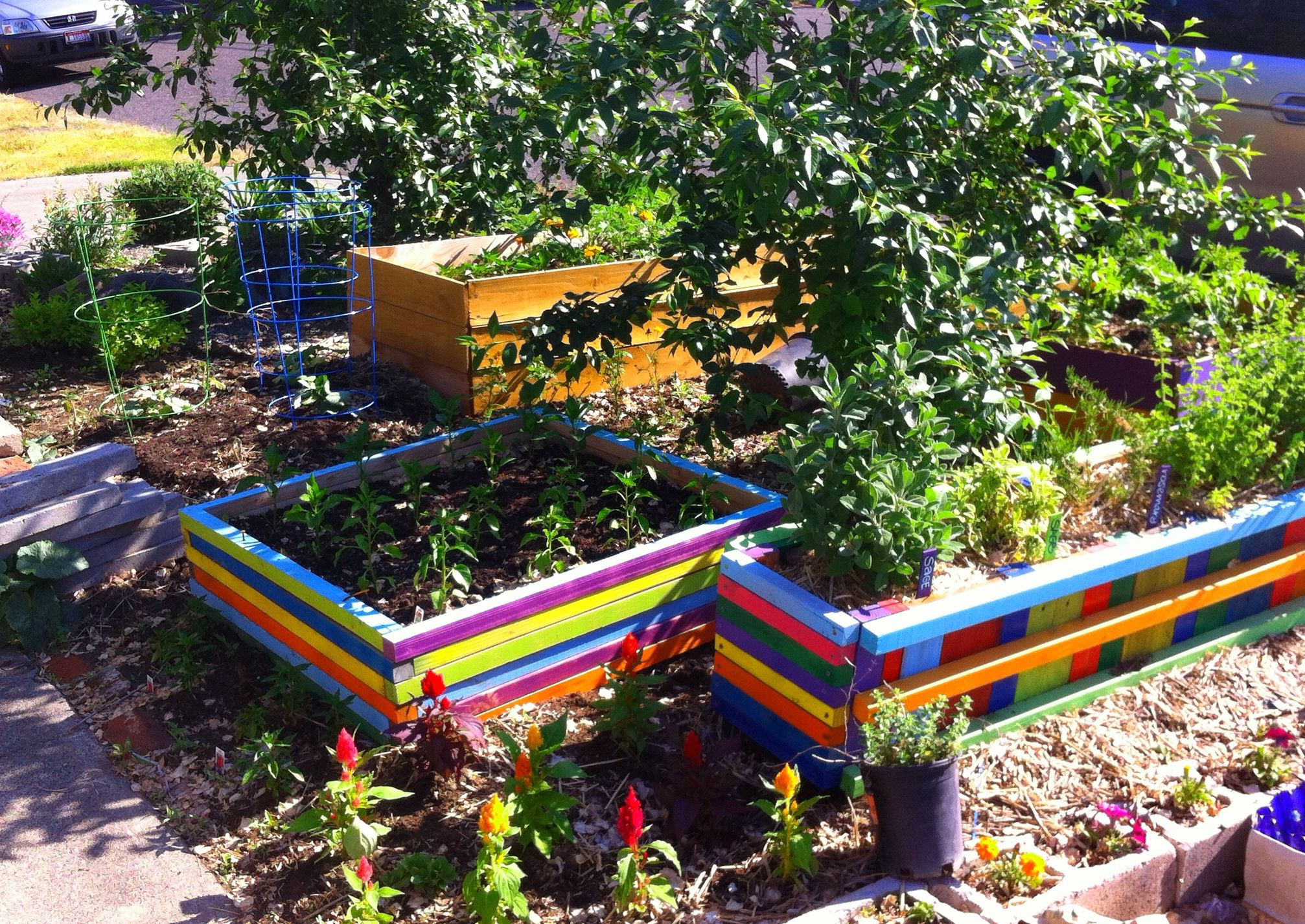 Painted Raised Garden Beds In My Front Yard Garden With Images