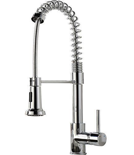 Shaco Upscale Chrome Stainless Steel Spiral Spring Single Handle Pre ...