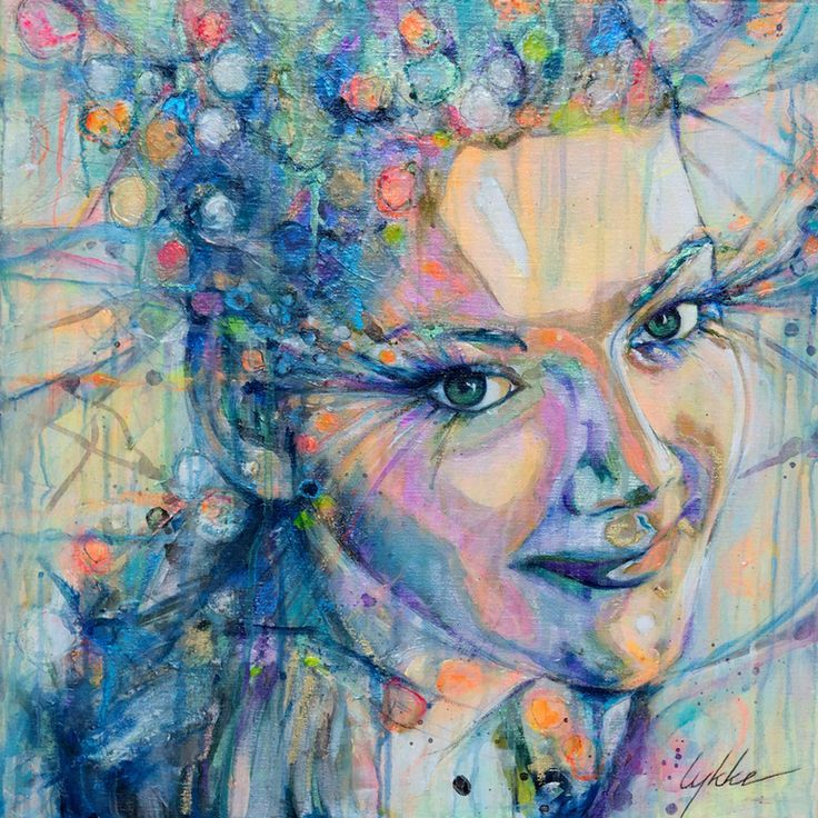 "Saatchi Online Artist: Lykke Steenbach Josephsen; Mixed Media, 2012, Painting ""Commissioned Portrait Painting"" #LykkeJosephsen"