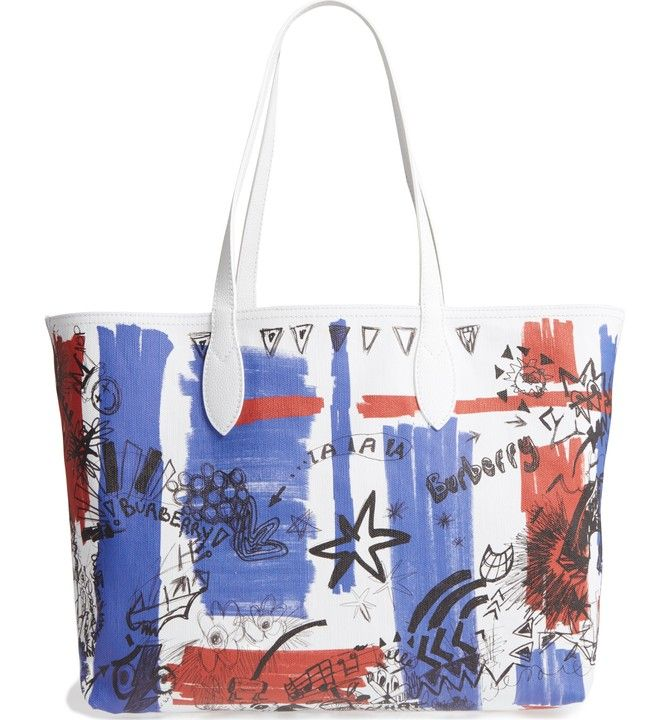 74b21b7bf1 Main Image - Burberry Sketchbook Series Reversible Coated Canvas Tote