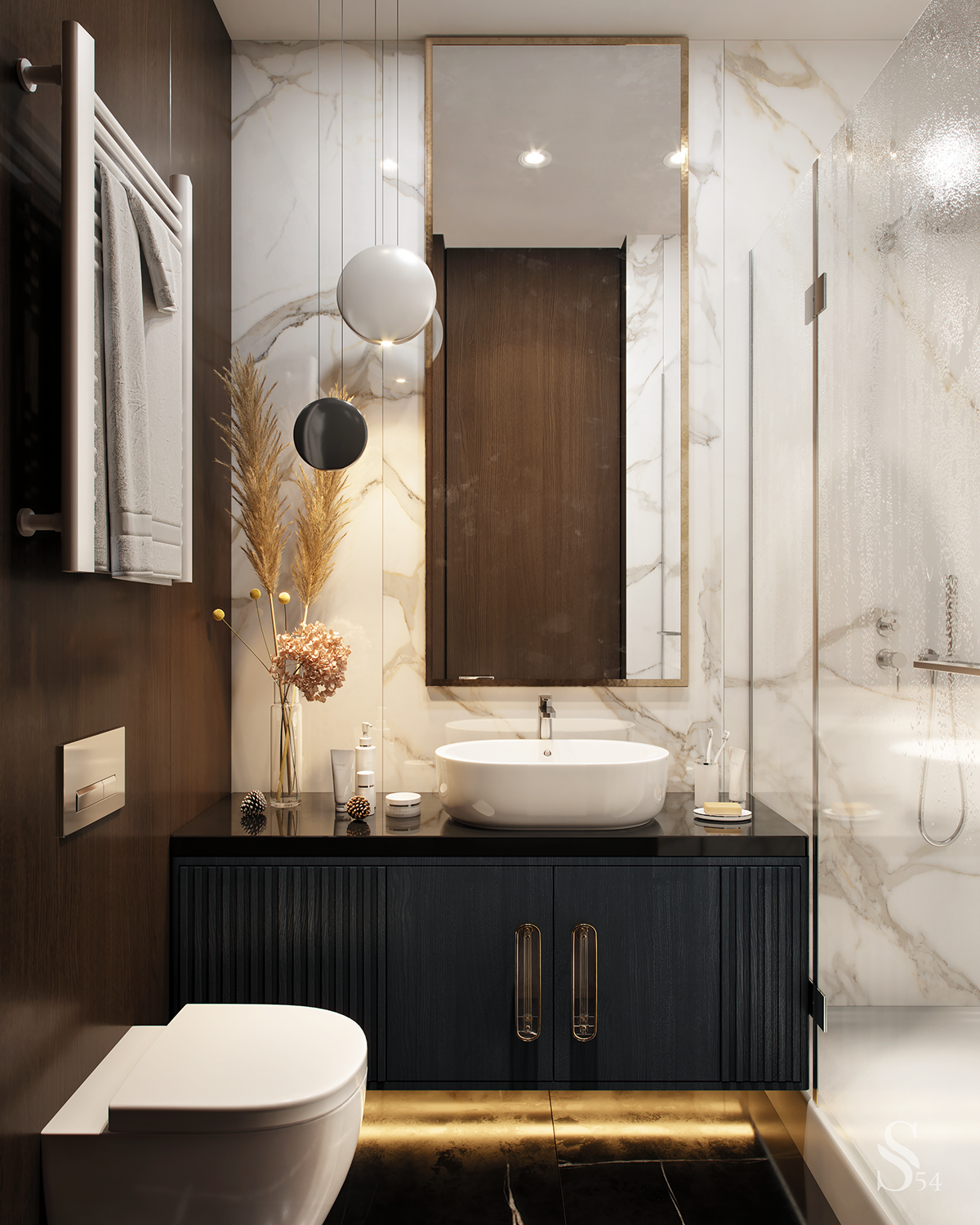 Apartment In Moscow On Behance In 2020 Bathroom Design Bathroom Interior Design Luxury Bathroom