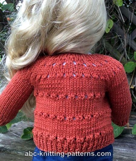 Free Doll Cardigan Knitting Pattern Ag Doll Knits Pinterest