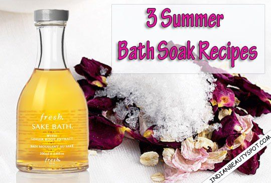 Summer Bath Soak,apple cider vinegar, baking soda, oatmeal