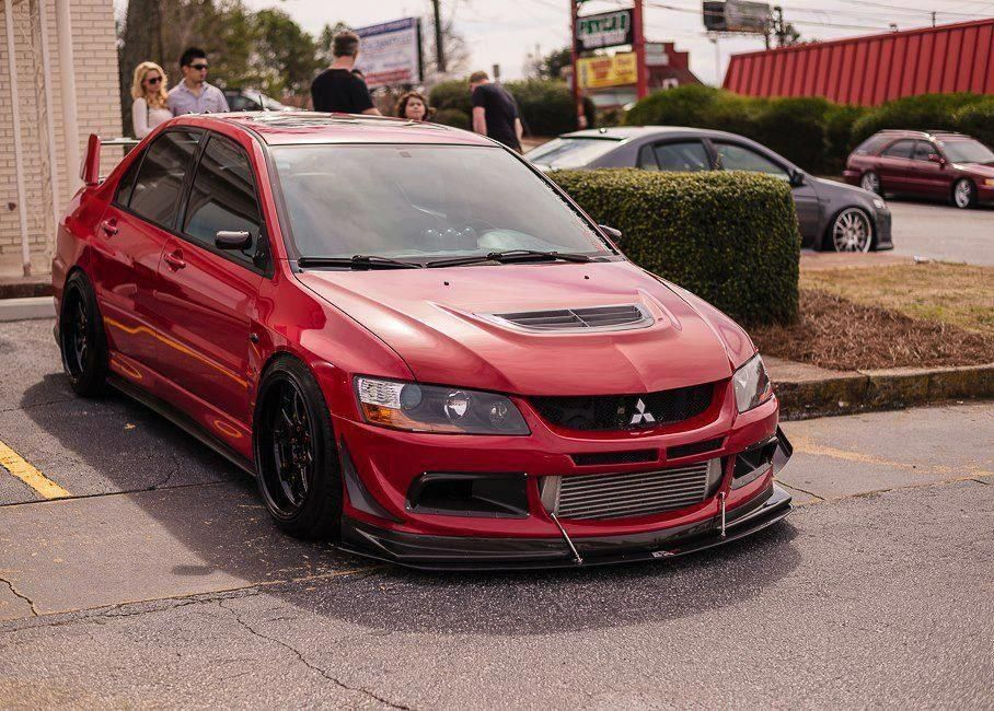 Superior Mitsubishi Evolution IX, By Far The Best Front Bumper On The Evo