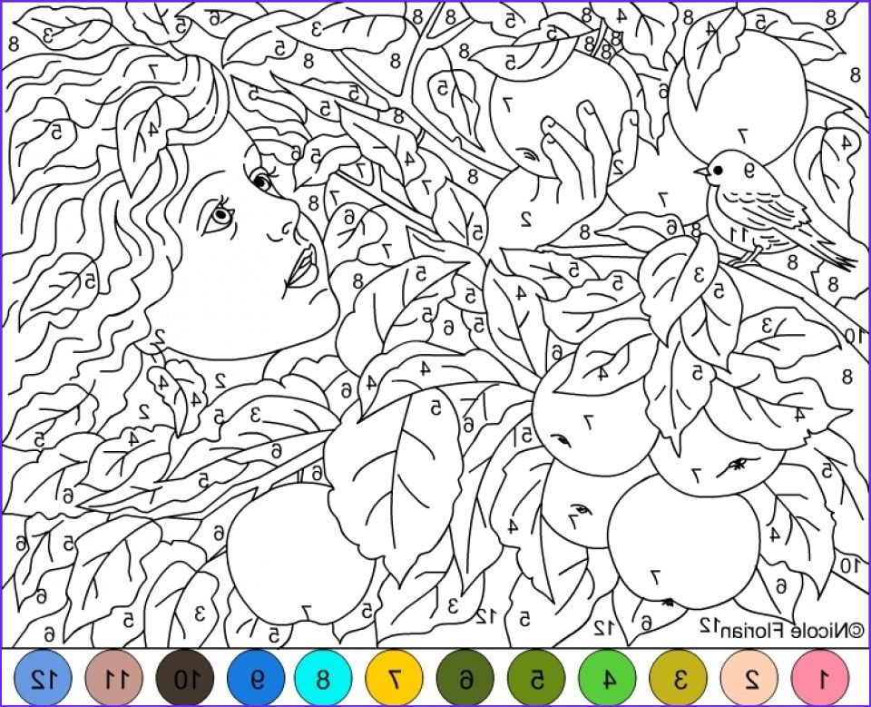 Get This Difficult Color By Number Pages For Grown Ups Hl82t Coloring Books Coloring Pages Color By Number Printable