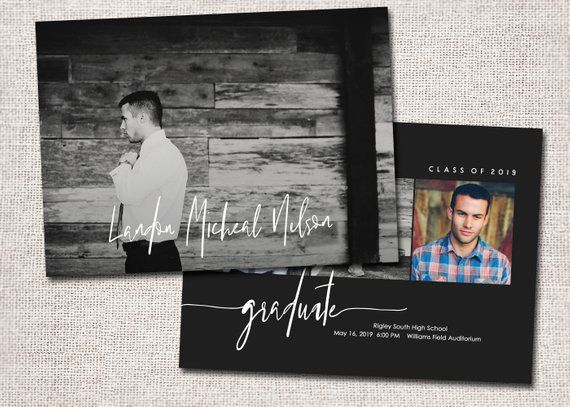 Graduation Announcement, Graduation Invitation, Photo Graduation