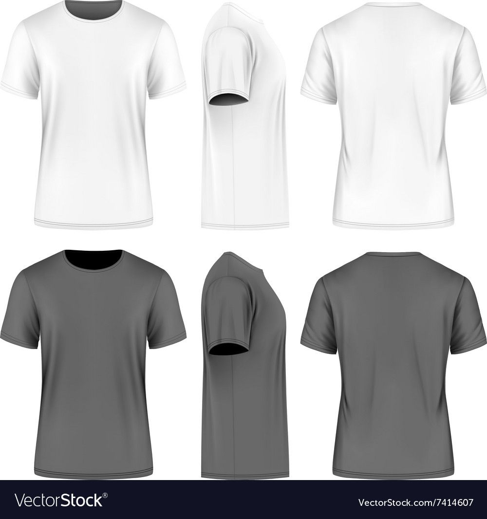 Download Men Short Sleeve T Shirt Front Side And Back Views Vector Illustration Fully Editable Handmade Men Short Sleeve Polo Shirt Design T Shirt Design Template